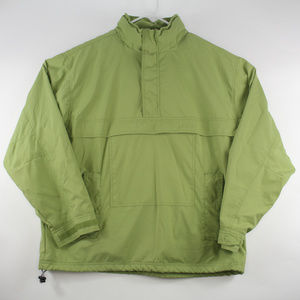 Gap Mens Jacket Large Popover Windbreaker Green